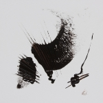 Chocolat noir acrylique sur toile 50 x 50